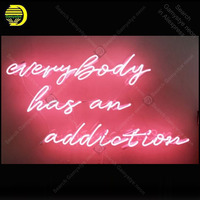 Neon Sign for Everybody Has An Addiction Decoracion Express Beer Neon Light up white wall sign Neon Signs for bedRoom Letrero