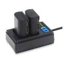 Снимать 2 шт. LP-E6 Батарея с светодиодный Dual USB Зарядное устройство для Canon 6D 7D 5DS 5DSR 5D Mark II 5D 60D 60Da 70D 80D