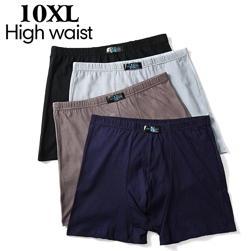 4-packs 2020 New Men's Boxer Pantie Lot Underpant Loose Large Short Cotton Plus 6XL 7XL 8XL 9XL 10XL Underwear Boxer Male XXXXL