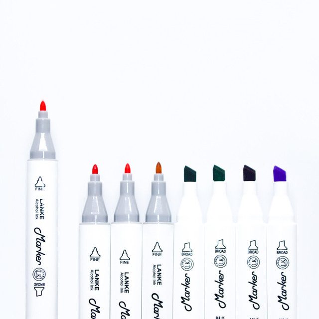 CHENYU 80Colors Alcohol Brush Markers Pen Sketch Art Marker Dual Headed Base For Drawing Manga Art Supplies Stationary 9 Gifts 3