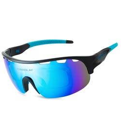Half Frame Cycling Sunglasses Safety Polarizing Glasses 2021 Windproof Men Female Glasses Lenses Sun Colored Myopia Sunglasses