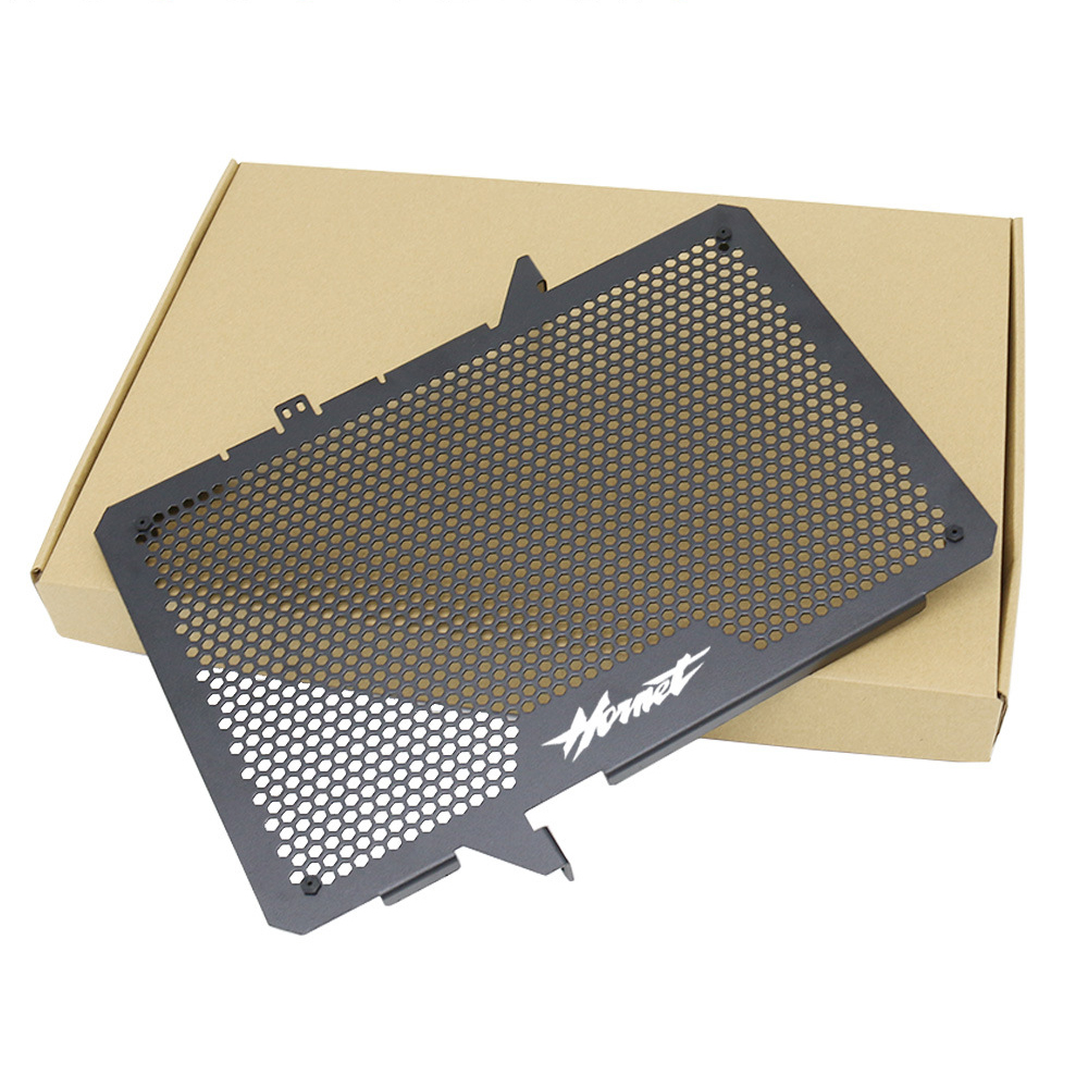 new Black Motorcycle Water Tank Net Mesh Guard Shield Aluminum For CB650F CBR650F HORNET Water Tank Net high quality
