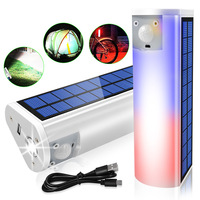 Solar Lade Taschenlampe Power Bank Taschenlampe Tragbare Taschenlampe Wasserdichte Hand Licht Camping Lampe Notfall Angeln Nacht Licht