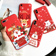 Christmas Deer Case For Xiaomi Pocophone F2 F1 Mi Redmi Note 10 Lite 9S 9 10X 8T 8 T 7 5 6 K20 K30 Pro Max SE Santa Claus Fundas(China)
