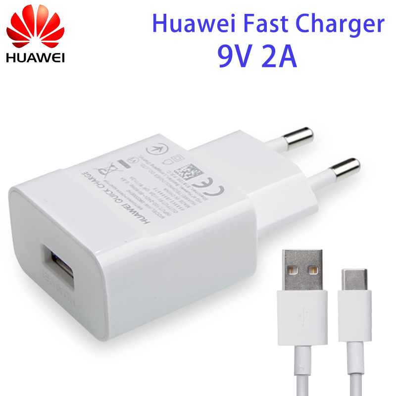 Оригинальное быстрое зарядное устройство Huawei QC3.0 9В 2A Type-C для Huawei P8 P9 Plus Lite Honor 8 9 Mate10 Nova 2 2i 3 3i 4 4e Mate 7 8 9