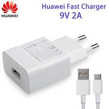 Huawei Originais Carregador Rápido rápido QC3.0 9V 2A Tipo-C Para Huawei P8 P9 Plus Lite Honra 8 9 Mate10 Nova 2 3 3i 2i 4 4e Companheiro 7 8 9