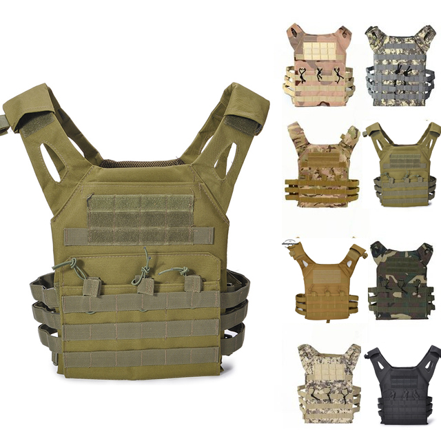 Camouflage Tactical Multicam Vest Army Combat Body Armor Plate Carrier Vest  Airsoft Paintball Gear