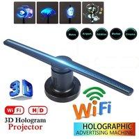3D LED WiFi Holographische Projektor Display Fan Hologramm Werbung Player