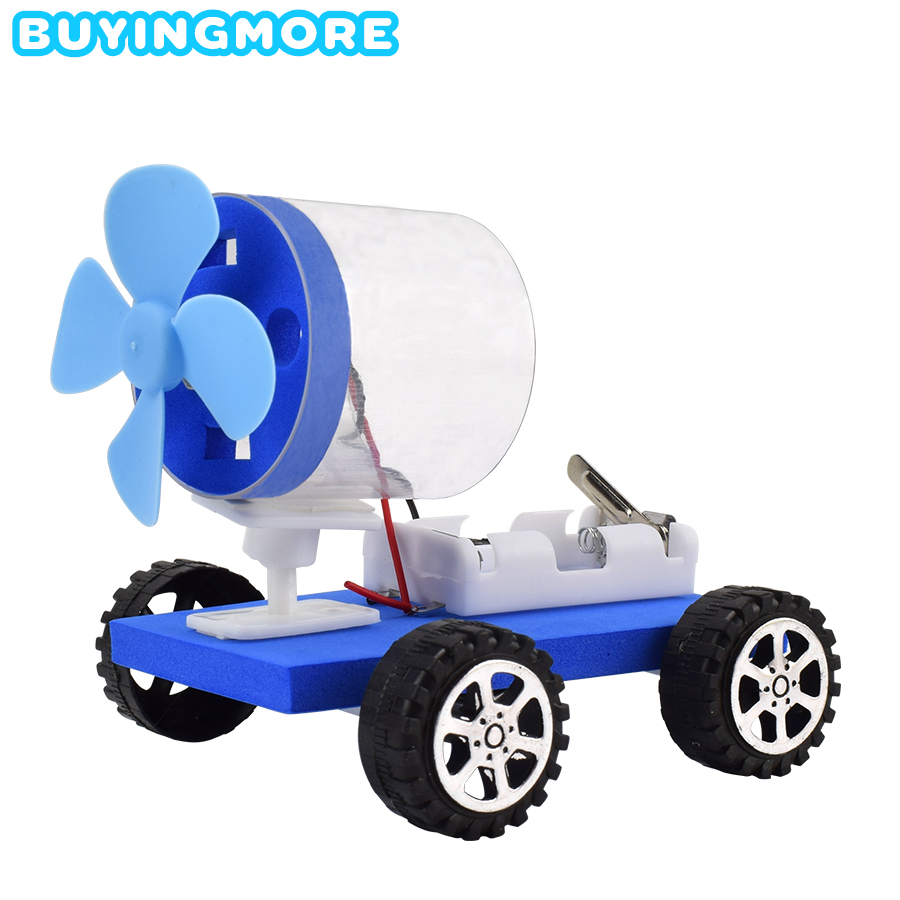 Electric DIY Air Powered Car Model Kit Science Toys For Kids Creative Physics Experiment Plastic Model Assemble Educational Toys