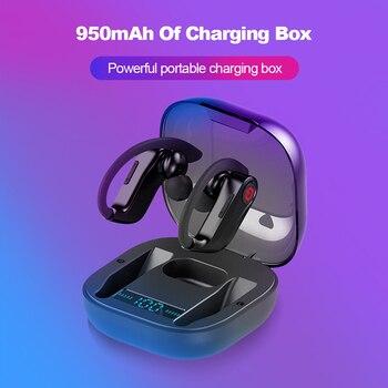 Ear Hook Wireless Headphones Bluetooth Earpiece For Huawei Mate 30 Lite 20 X P30 Pro P20 P10 Mobile Earphone With Mic Power Bank