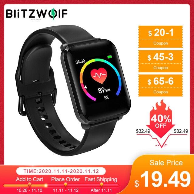 BlitzWolf reloj inteligente BW HL1 de 1,3 pulgadas, dispositivo con pantalla multilingüe, control de la presión sanguínea, 15 días de reposo, Modo deportivo IP68