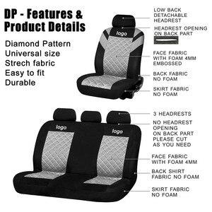 Image 5 - Duster Druck Logo Diamant Muster Geprägt Vollen Satz und 2 Vordersitze Innen Zubehör Universal Auto Sitz Abdeckung