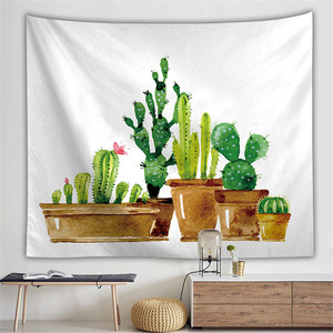 Wall Hanging Cactus Tapestry Bohemian Cover Beach Towel Throw Blanket Picnic Yoga Mat Home Decoration Textiles