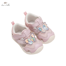 DB17560 Dave Bella summer fashion baby girls cartoon butterfly sandals new born infant shoes girl sandals cute shoes