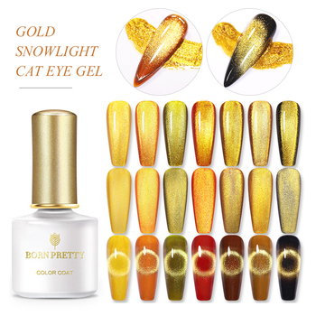 цена на BORN PRETTY Nail Set Magnetic Gel Gold Snowlight Cat Eye Gel Nail Polish Set Shining Soak Off UV Gel Varnish Nail Art Design