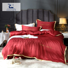 Liv-Esthete Luxury 100% Mulberry Silk Wine Red Bedding Set Silky Duvet Cover Healthy Skin Pillowcase Double Flat Sheet Bed Linen