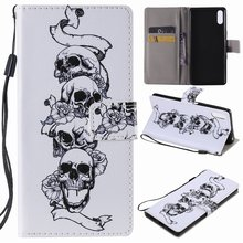 Skull Pattern Book Cases For Apple iPhone XR X XS 11 Pro Max 2019 5S SE 6S 7 8 Plus touch 6 5 Card Slot Leather Stand Cover E06F