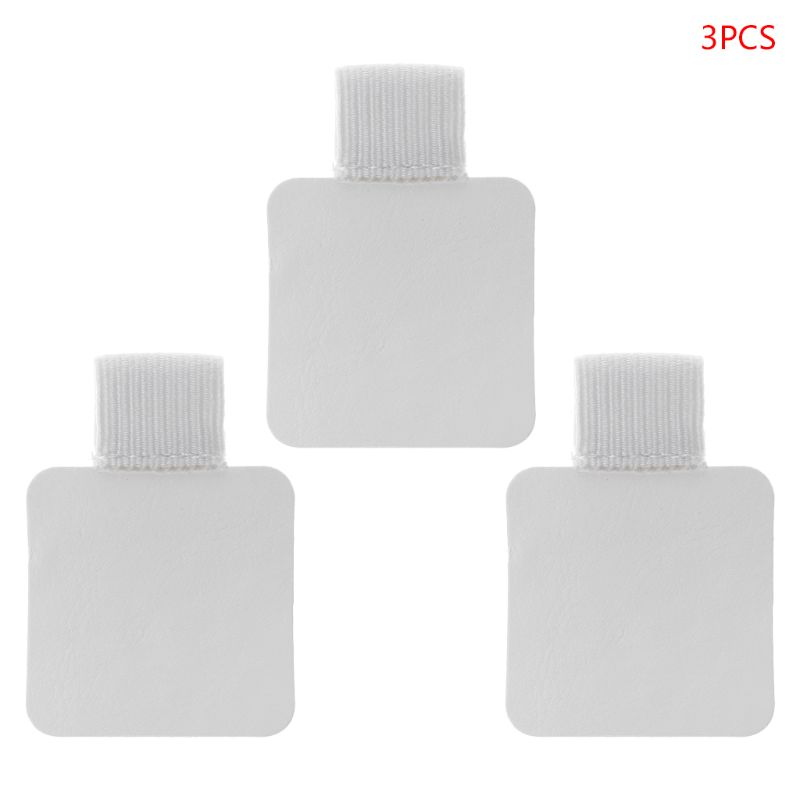 3pcs Square Self-adhesive Leather Pen Clip Pencil Elastic Loop For Notebooks Journals Clipboards Pens Holder LX9A