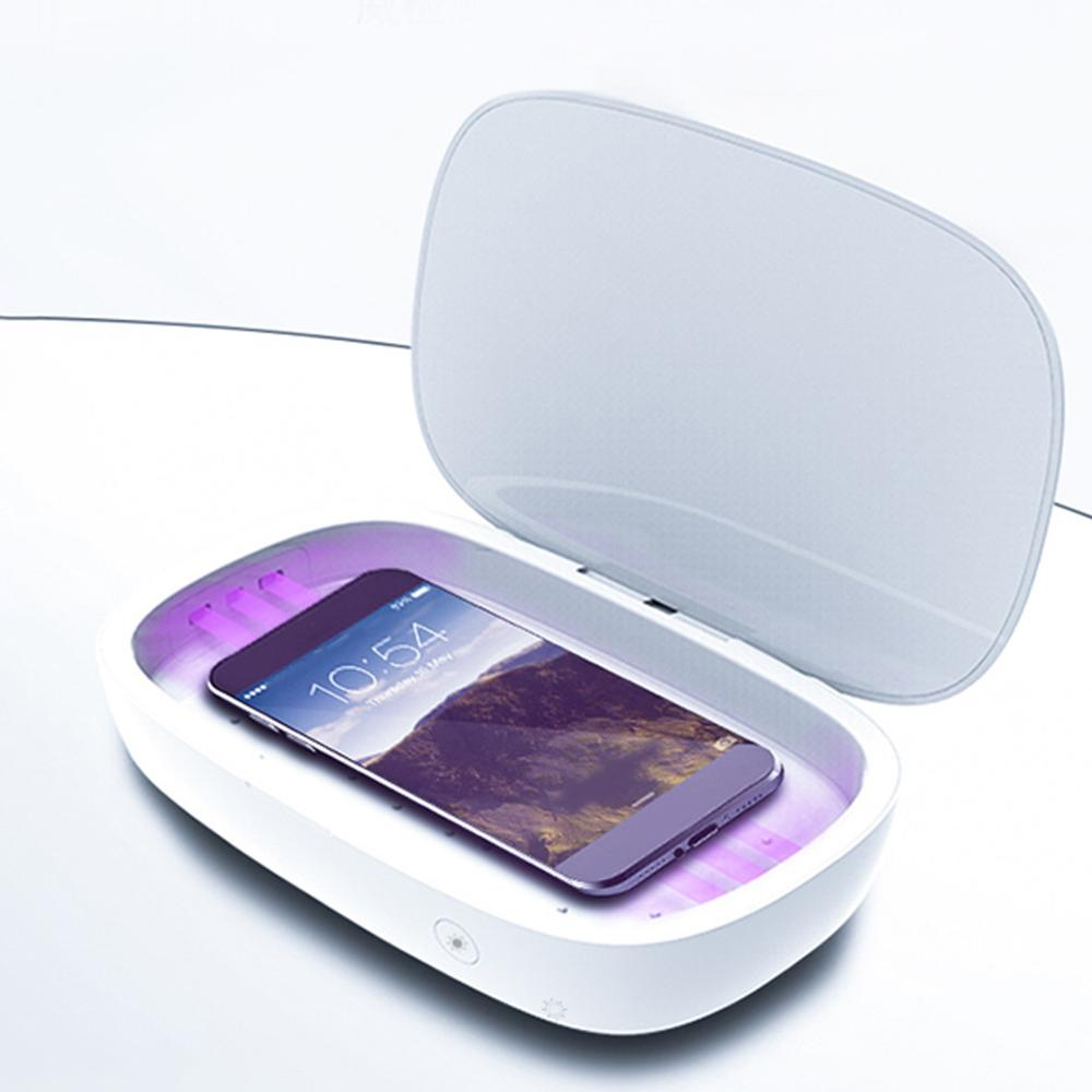 <font><b>UV</b></font> Sterilizer <font><b>Box</b></font> Multifunction <font><b>UV</b></font> <font><b>box</b></font> Portable Ultraviolet Case Wireless Charger Mobile Phone <font><b>UV</b></font> Cleaning Disinfection Machine image