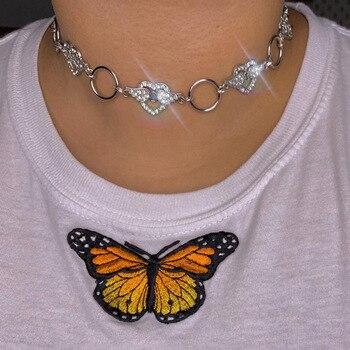Gargantilla Punk de cristal para Mujer, collar de joyería para Mujer, regalo...