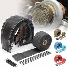 Turbo osłona termiczna turbosprężarki koc narzuta dla T3 obudowy turbosprężarki Turbo ładowarka T2 T25 T28 GT28 GT30 GT35 tanie tanio GISAEV CN (pochodzenie) TB-B2-004 Fiberglass Wool Stainless Steel