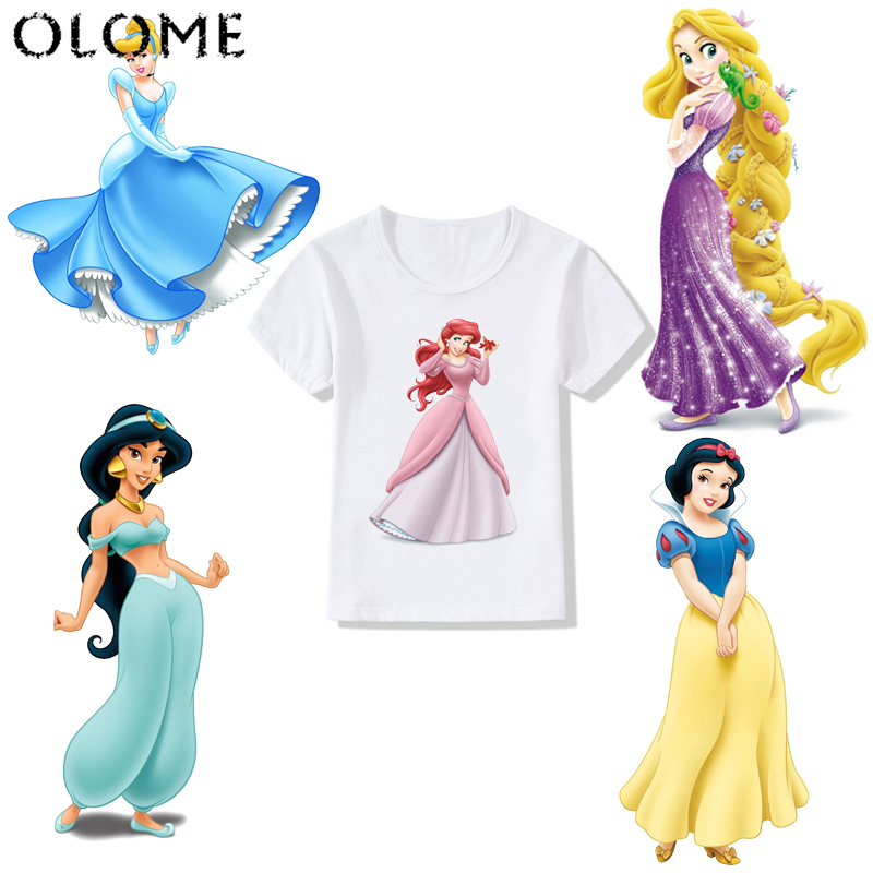 Sereia jasmim brilhante princesa impressão crianças camiseta verão manga curta o-pescoço t camisa do bebê meninas camiseta crianças roupas de topo t