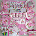 2019 balões para festas de unicórnio, placas, guardanapos, bolo, presentes de feliz aniversário, decoração de festa