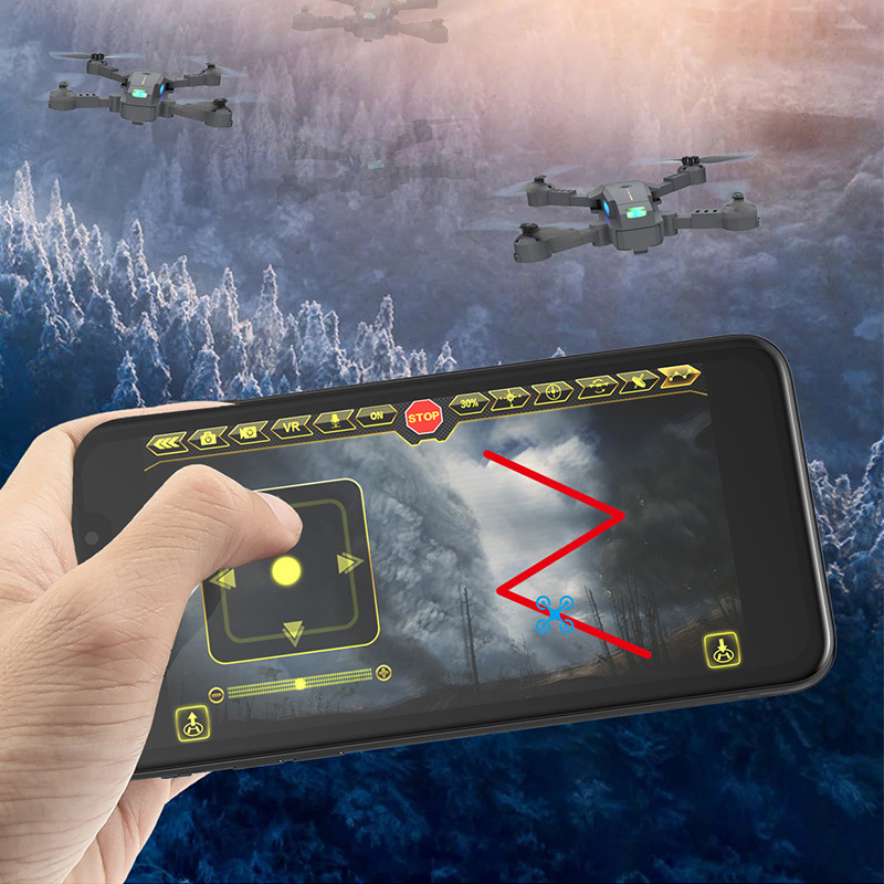 X-Pack 10 Folding Mini Unmanned Aerial Vehicle Remote Control Toy Plane Aerial Photography New Products Drone