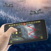 X pack 10 dobrável mini veículo aéreo não tripulado brinquedo de controle remoto avião fotografia aérea novos produtos zangão   -