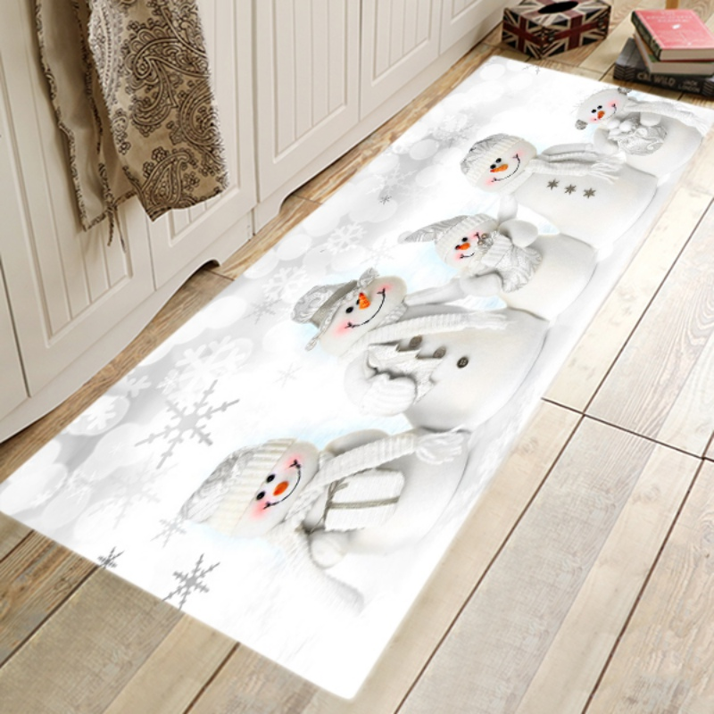 Christmas Area Rug Christmas Indoor Doormat,Coral Fleece Runner for Kitchen Living Dining Room Bedroom