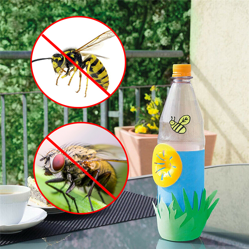 Flower Shaped Bee Catcher Garden Flying Wasp Trap Reusable Mini Outdoor Pest Control Bee Hunting Equipment Beekeeping Tool 10pcs