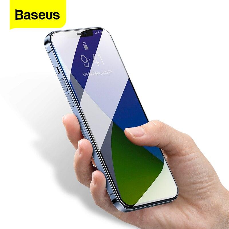 Baseus 2Pcs Protezione Dello Schermo Per il iPhone 12 Pro Max 0.3 millimetri Trasparente Vetro di Protezione Per il iPhone 12 mini Temperato pellicola Della protezione Della Copertura