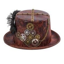 Женская Ретро шляпа для косплея в стиле стимпанк