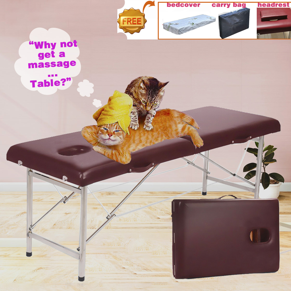 Portable Massage Table Professional Folding Aesthetic Spa Tattoo Stretchers  Couch Beauty Salon Foldable Massage Bed Esthetique