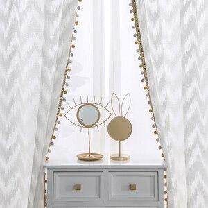 Image 1 - Modern dalga tarzı pencere tül perde saf beyaz Villa dekorasyon ışık geçirgenliği perdeler yatak odası oturma odası mutfak için