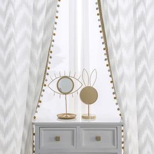 Image 1 - Moderne Wave Stijl Venster Tule Gordijn Pure White Villa Decoratie Licht Transmissie Gordijnen Voor Slaapkamer Woonkamer Keuken