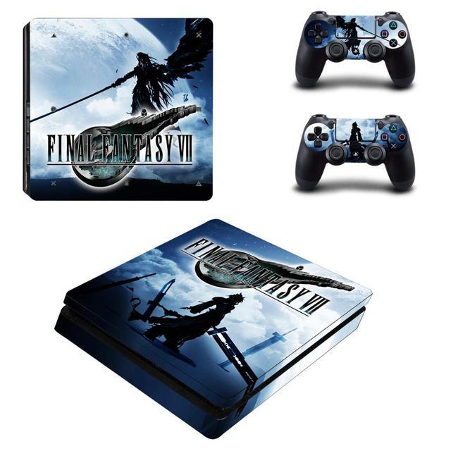 Final Fantasy VII PS4 autocollant de peau mince vinyle pour Playstation 4 DuslShock 4 Console et contrôleur PS4 autocollant de peau mince
