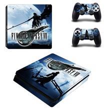 Pegatina de pegatina de PS4 Slim de Final Fantasy VII para Playstation 4, pegatina de vinilo para consola DuslShock 4 y pegatina de PS4 Slim controlador