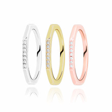 Authentic 925 Sterling Silver Rings Multifaceted 3 color Ring Heart Engrave Rings for Women Engagement Jewelry Anniversary gift authentic 925 sterling silver rings tiara wishbone ring for women engagement jewelry anniversary