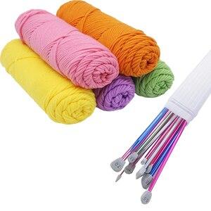 Image 4 - LMDZ 2 sztuk/zestaw 35cm szpiczaste z jednej strony druty do robienia na drutach prosto aluminium DIY narzędzie tkackie długi sweter szalik igły 2.0 12mm