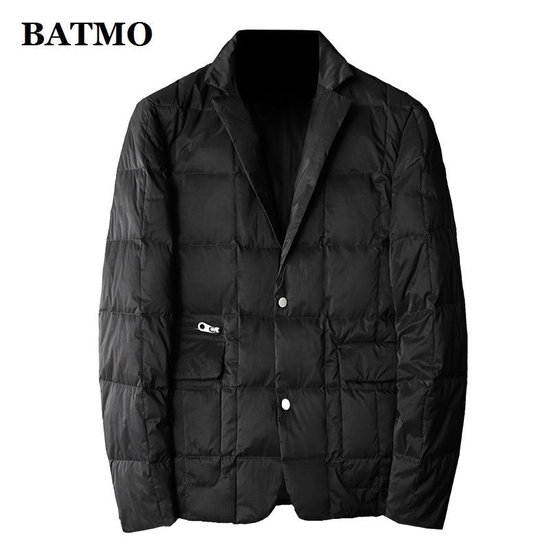 BATMO 2019 New Arrival 80% White Duck Down Thin Jackets Men,men's Suits ,plus-size L-5XL 208