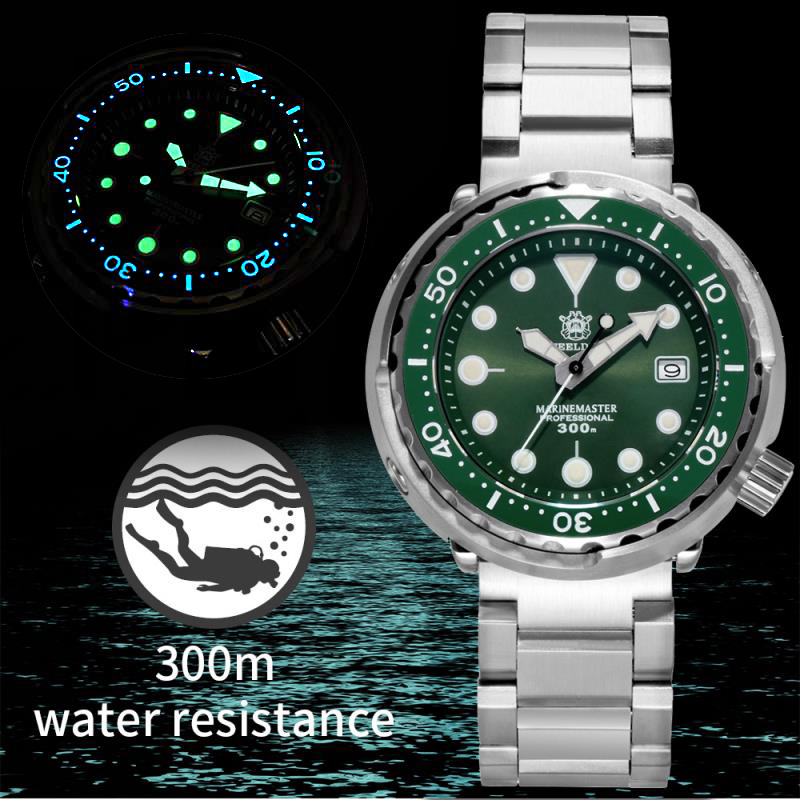 Steel dive 1975 First Canned Tuna Mechanical Watch Japan Movement NH35 Sapphire Watch Crystal 316L Dive Watches Men 300m Luxury image
