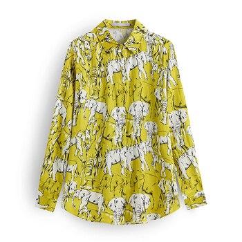 Stylish Shirt Women Turn Down Collar Office Fashion Female Blouse 5