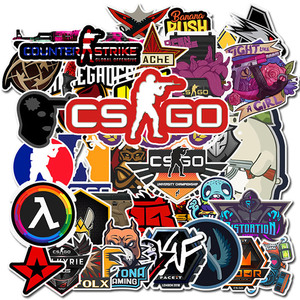 50 PCS Pack CS GO PVC Waterproof Stickers Motorcycle Anime Game Sticker Kids children Laptop Funny Graffiti Mix Retro Sticker