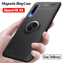 Magnetic Silicone Case for Xiaomi Mi A3 car phone holder mia3 cc9e xiaomi Back cover mi a3 magnetic ring case