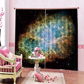 black stars curtains photo Blackout Window Drapes Luxury 3D Curtains For Living room Bed room Office Hotel Home Blackout curtain