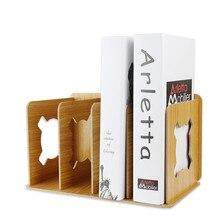 Rack-Holder Book-Stand Document-Organizer Desk File-Book Detachable Wooden Office 2/4-Grids