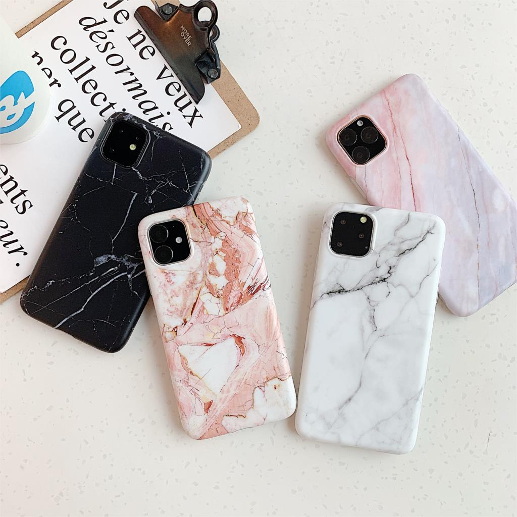 Shockproof Marble Stone Matte Case Voor iPhone 11 Pro XR XS Max Soft Silicone TPU Back Cover Voor iPhone 7 6 6S 8 Plus Capa Coque