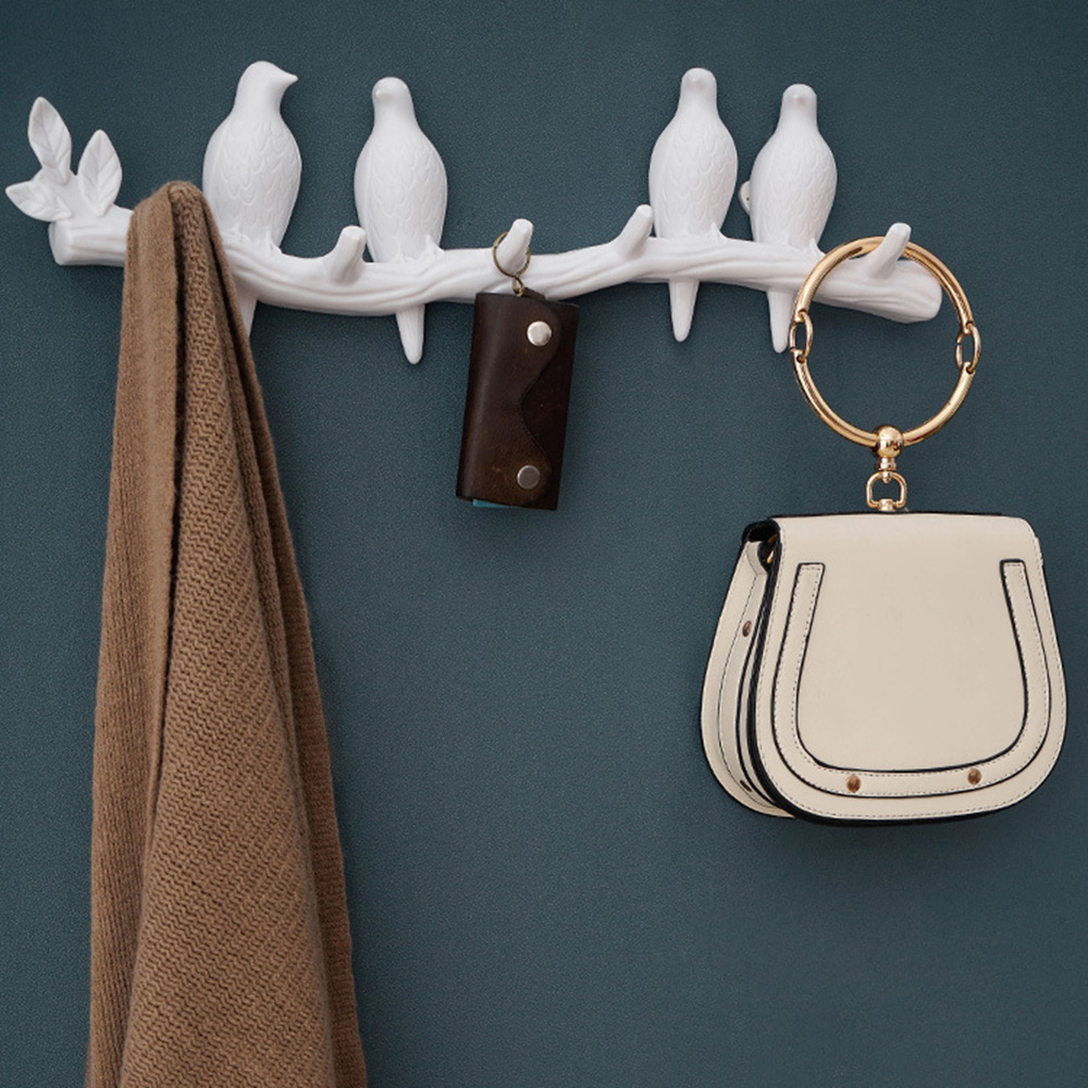 1PCS Wall Decorations Home Accessories Living Room Hanger Resin Bird Key Bedroom Kitchen Coat Hat Clothes Towel Hooks