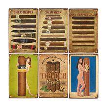 Pôster de charuto, pôster de loja de cigarros, bar, café, placa decorativa, tabaco, decoração de casa, 20x30cm